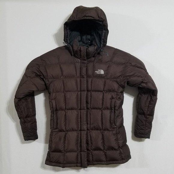 North Face Womens Medium Brown Parka Jacket Coat M